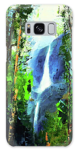 Yosemite Falls Galaxy Case by Elise Palmigiani