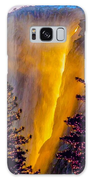 Yosemite Firefall Painting Galaxy Case by Dr Bob Johnston