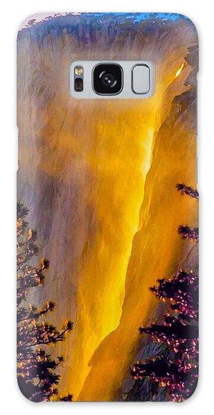 Yosemite Firefall Painting Galaxy Case