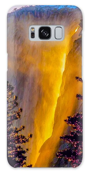 Yosemite Firefall Painting Galaxy Case