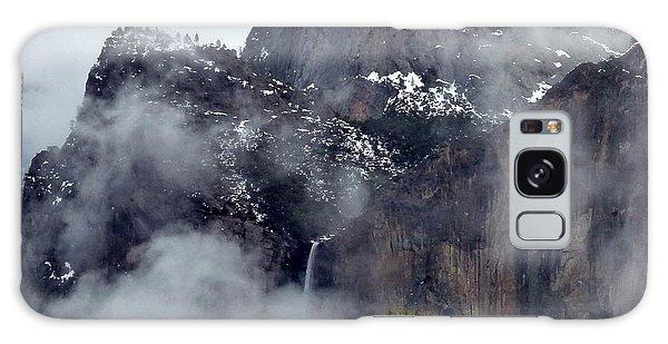 Yosemite Snowy Bridalveil Falls  Galaxy Case by Jeff Lowe