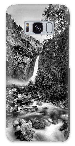 Yosemite Waterfall Bw Galaxy Case by Az Jackson