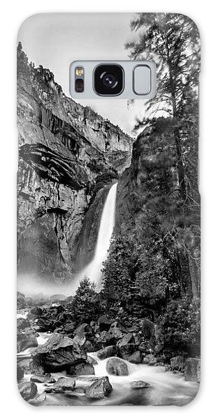 State Park Galaxy Case - Yosemite Waterfall Bw by Az Jackson