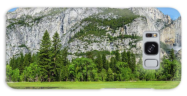 Yosemite West Valley Meadow Panorama #2 Galaxy Case