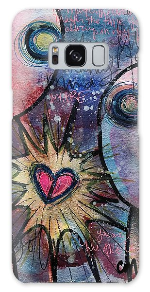 Galaxy Case featuring the painting You Are Always In My Heart  by Laurie Maves ART