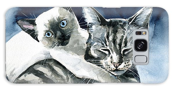You Are Mine - Cat Painting Galaxy Case