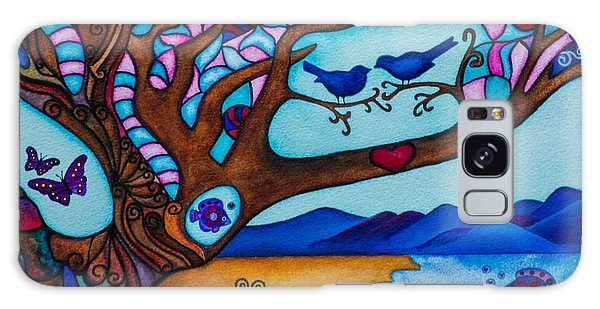 Love Is All Around Us Galaxy Case by Lori Miller