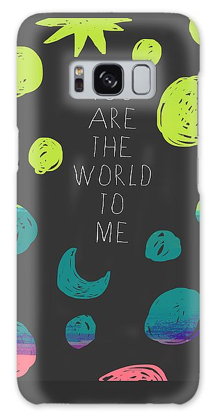 Galaxy Case featuring the painting You Are The World by Lisa Weedn
