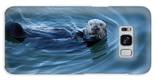 Galaxy Case featuring the photograph You Otter Take My Picture, Lady by Lora Lee Chapman
