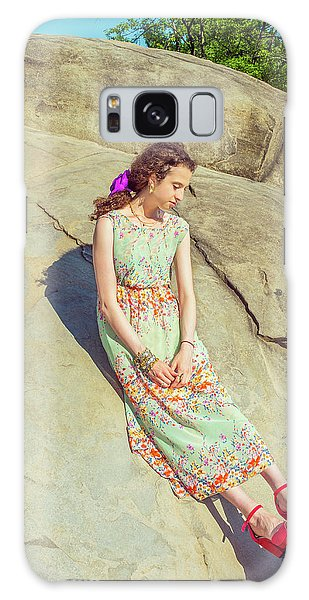 Young American Woman Summer Fashion In New York Galaxy Case