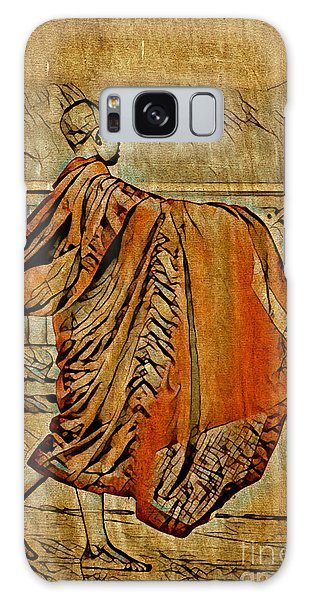 Young Buddhist Monk Galaxy Case