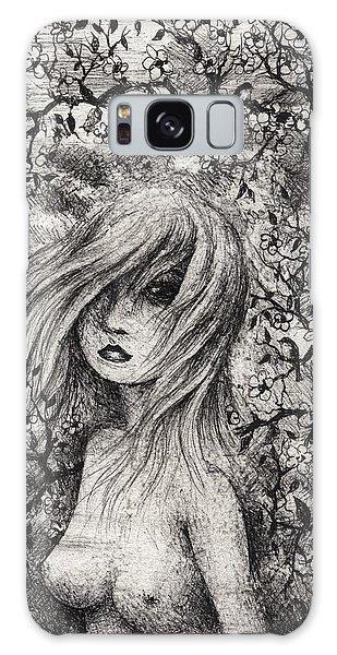 Galaxy Case - Young Cherry Blossom by Rachel Christine Nowicki