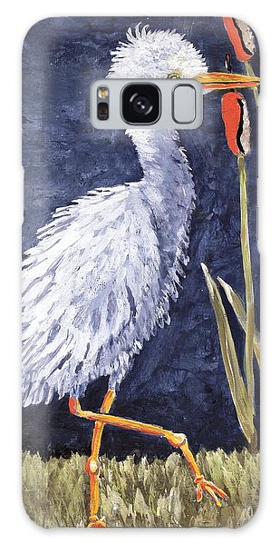 Young Egret Takes A Walk Galaxy Case