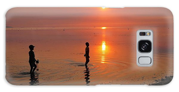 Young Fishermen At Sunset Galaxy Case