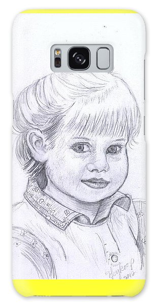 Young Girl Galaxy Case by Francine Heykoop