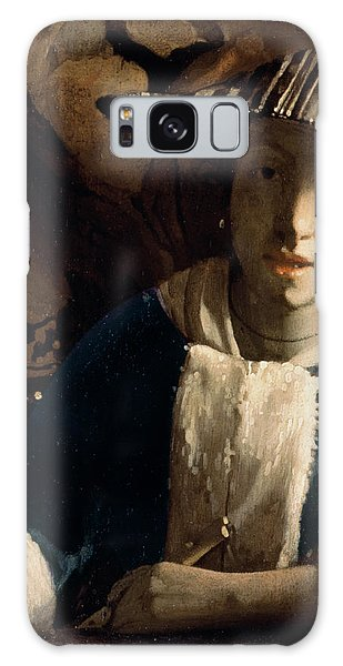 Jan Vermeer Galaxy Case - Young Girl With A Flute by Jan Vermeer
