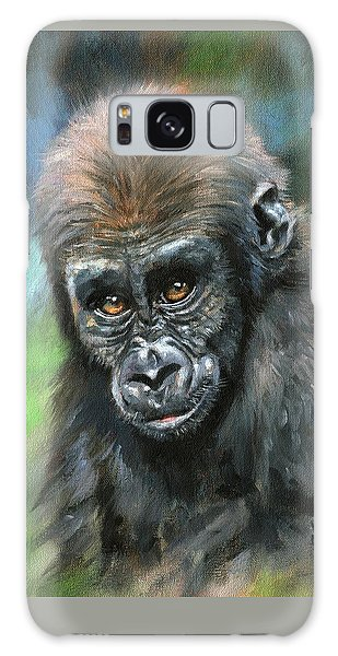 Young Gorilla Galaxy Case by David Stribbling