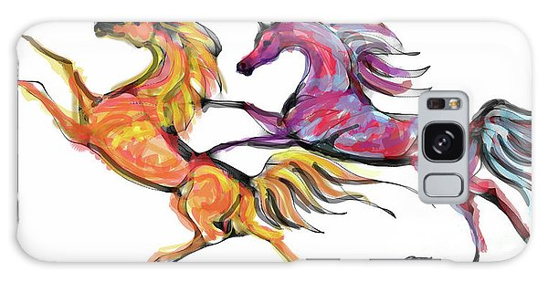 Young Horses Playing Galaxy Case