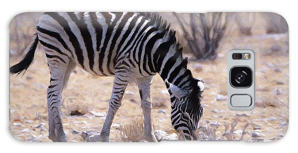 Young Plains Zebra Galaxy Case by Ernie Echols