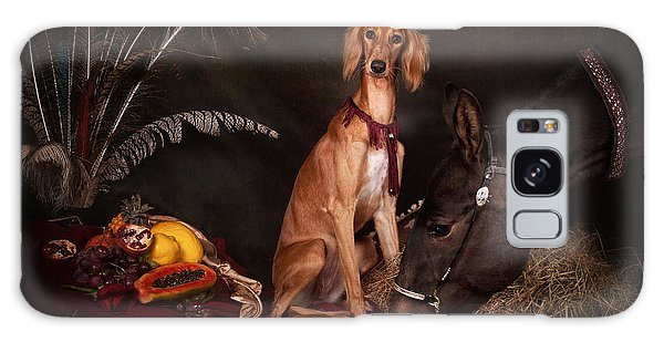 Young Saluki Dog With A Horse Galaxy Case