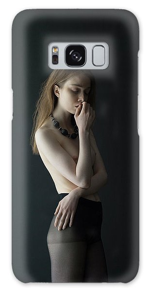 Young Woman In Pantyhose Galaxy Case