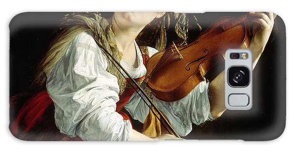 Violin Galaxy Case - Young Woman With A Violin by Orazio Gentileschi