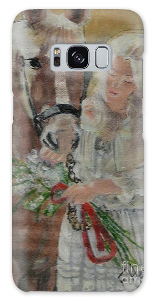 Young Woman With Horse Galaxy Case by Francine Heykoop