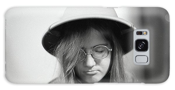 Young Woman With Long Hair, Wearing A Pith Helmet, 1972 Galaxy Case