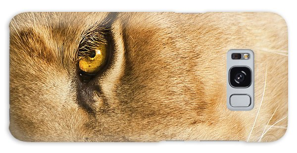 Galaxy Case featuring the photograph Your Lion Eye by Carolyn Marshall