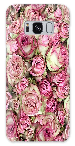 Galaxy Case featuring the photograph Your Pink Roses by Rockin Docks Deluxephotos