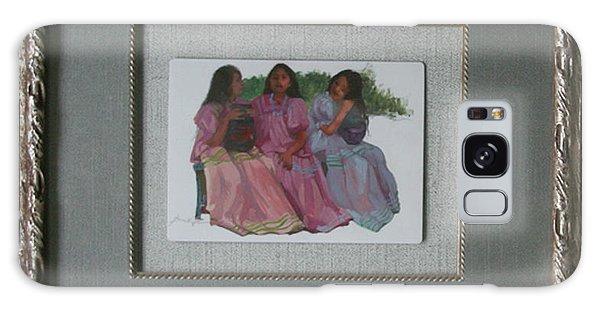 Betty Billups Galaxy Case - Youthful  Beauties Oil On Porcelain by Betty Jean Billups