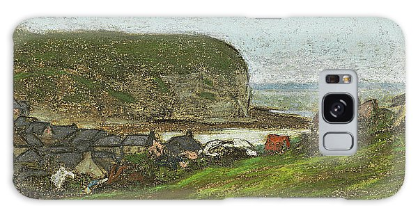Impressionistic Galaxy Case - Yport And The Falaise D'aval by Claude Monet