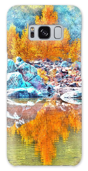 Yuba River Fall Reflection Galaxy Case