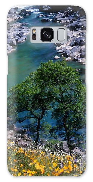 Yuba River In Spring Galaxy Case