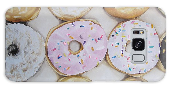 Yummy Donuts Galaxy Case by Jindra Noewi