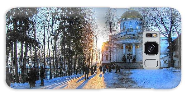 Yury Bashkin Russian Church In Winter Galaxy Case by Yury Bashkin