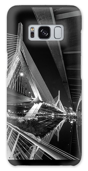 Zakim Bridge From Under The Leverett Connector Bridge Galaxy Case