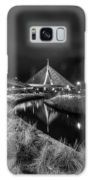 Zakim Bridge Reflecting Under A Moody Sky Galaxy Case