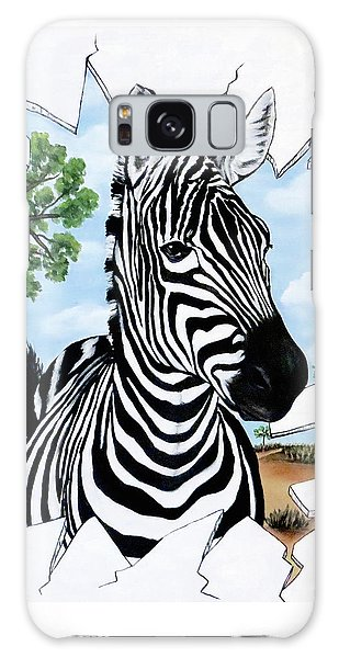 Galaxy Case featuring the painting Zany Zebra by Teresa Wing