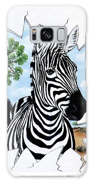 Zany Zebra Galaxy Case