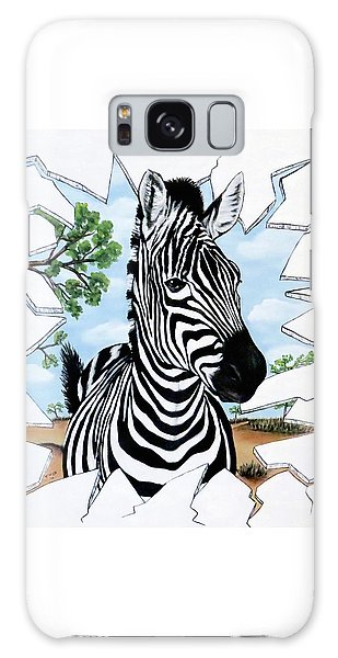 Zany Zebra Galaxy Case by Teresa Wing