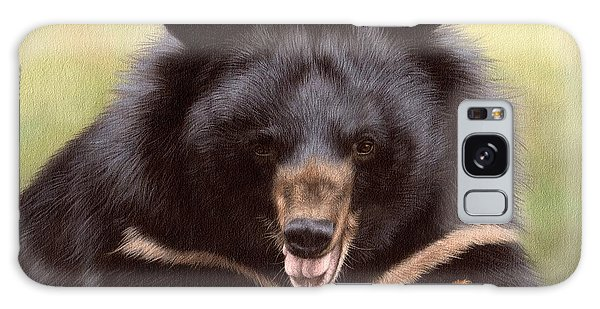 Zebedee Moon Bear - In Support Of Animals Asia Galaxy Case by Rachel Stribbling