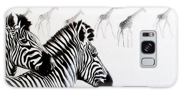 Zebra And Giraffe Galaxy Case