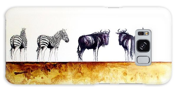 Zebra And Wildebeest Galaxy Case