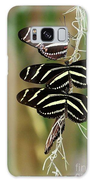 Zebra Butterflies Hanging On Galaxy Case