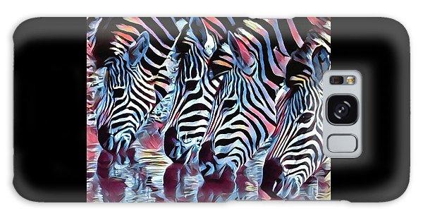 Zebra Dazzle Galaxy Case