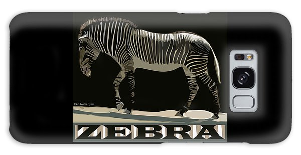 Galaxy Case featuring the digital art Zebra Design By John Foster Dyess by John Dyess