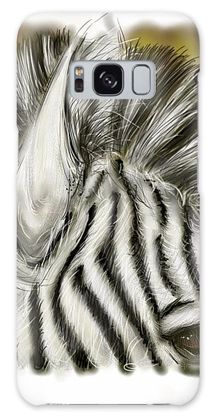 Zebra Digital Galaxy Case by Darren Cannell