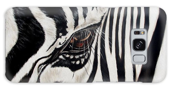 Wildlife Galaxy Case - Zebra Eye by Ilse Kleyn