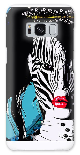 Zebra Girl Pop Art Galaxy Case